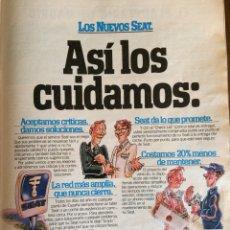 Coleccionismo Papel Varios: PUBLICIDAD AUTOMÓVIL SEAT DE 1981 PANDA RITMO 127 131. Lote 96863310