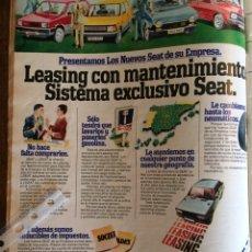 Coleccionismo Papel Varios: PUBLICIDAD AUTOMÓVIL SEAT DE 1981 PANDA RITMO 127 131. Lote 96863535