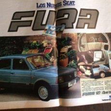 Coleccionismo Papel Varios: PUBLICIDAD AUTOMÓVIL SEAT 127 FURA DE 1981. Lote 96863671