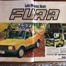 Coleccionismo Papel Varios: PUBLICIDAD AUTOMÓVIL SEAT 127 FURA DE 1981. Lote 96863862