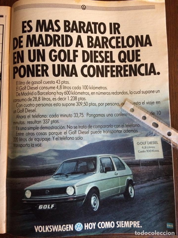 PUBLICIDAD AUTOMÓVIL VW VOLKSWAGEN GOLF DE 1982 (Coleccionismo en Papel - Varios)