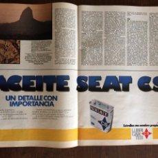 Coleccionismo Papel Varios: PUBLICIDAD ACEITE CS SEAT AUTOMÓVIL DE 1982. Lote 96893862