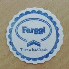 Coleccionismo Papel Varios: POSAVASOS - FARGGI - TUB'S & ICE CREAM - HELADOS. Lote 97009515
