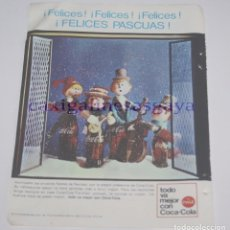 Coleccionismo Papel Varios: PUBLICIDAD - ANUNCIO - FELICES PASCUAS COCA-COLA - 1965. Lote 97089115