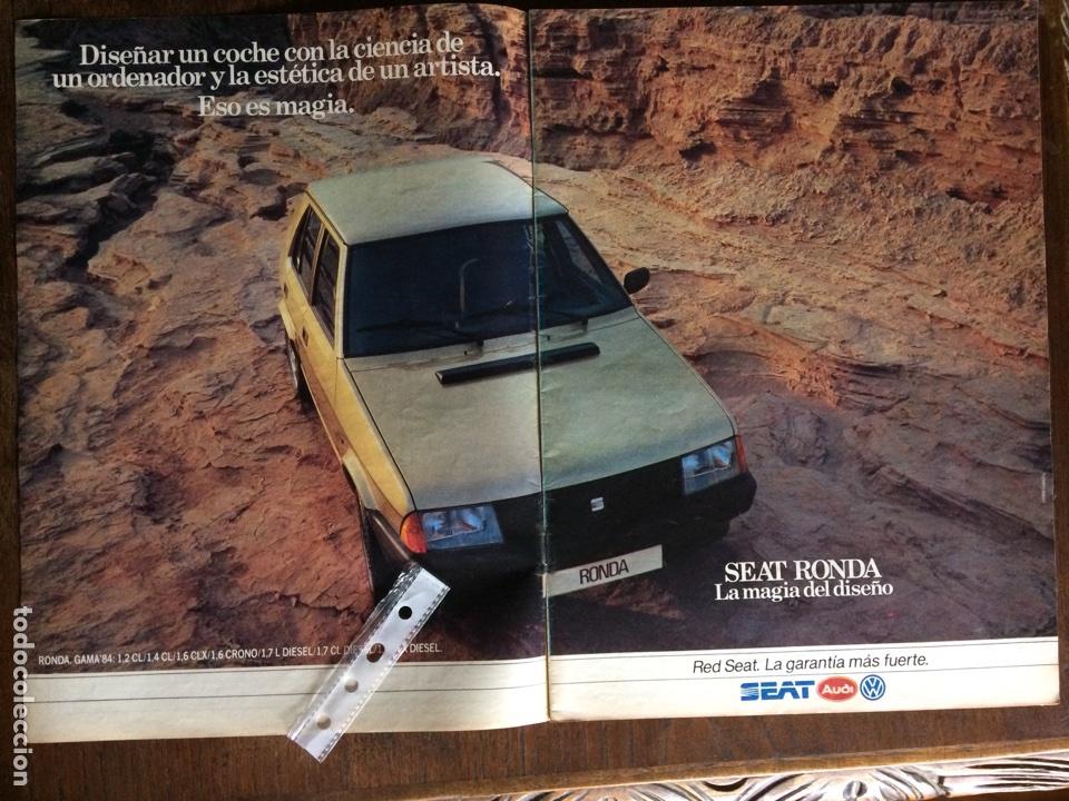 PUBLICIDAD AUTOMÓVIL SEAT RONDA DE 1983 (Coleccionismo en Papel - Varios)