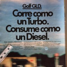 Coleccionismo Papel Varios: PUBLICIDAD AUTOMÓVIL VW VOLKSWAGEN GOLD GLD DE 1983. Lote 97129532