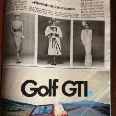 Coleccionismo Papel Varios: PUBLICIDAD AUTOMÓVIL VW VOLKSWAGEN GOLF GTI DE 1983. Lote 97136230