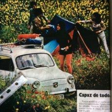 Coleccionismo Papel Varios: PUBLICIDAD AUTOMÓVIL SEAT 600. Lote 97138935