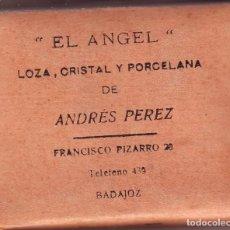 Coleccionismo Papel Varios: BADAJOZ PAPEL HIGIENICO DE BOLSO EL ÁNGEL DE ANDRÉS PÉREZ (LEER) AÑOS 1920/30. Lote 97304207