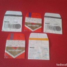 Coleccionismo Papel Varios: LOTE DE 5 ANTIGUOS SOBRES DE PAPEL INDO INDOCROMIC VIS PARA GUARDAR CRISTALES GRADUADOS GAFAS VER. Lote 97700127