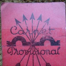 Coleccionismo Papel Varios: RARO CARNET DE LA FALANGE ORIGINAL DEL AÑO 1942. Lote 97723227