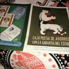 Coleccionismo Papel Varios: RARA PUBLICIDAD ANTIGUA DE LA CAJA POSTAL DE AHORROS. AÑOS 50-60. Lote 97811143