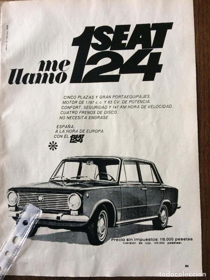 PUBLICIDAD AUTOMÓVIL SEAT 124 (Coleccionismo en Papel - Varios)