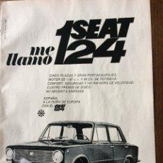 Coleccionismo Papel Varios: PUBLICIDAD AUTOMÓVIL SEAT 124. Lote 97869911