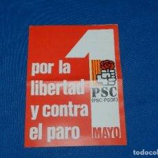 Coleccionismo Papel Varios: (M) FOLLETO POLITICO - PSC POR LA LIBERTAD Y CONTRA EL PARO. Lote 97940027