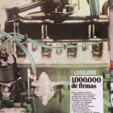 Coleccionismo Papel Varios: PUBLICIDAD AUTOMÓVIL SEAT 1.000.000 850 600 124 1500 1430. Lote 97940862