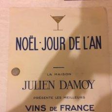 Coleccionismo Papel Varios: LA MAISON JULIEN DAMOY VINS DE FRANCE 1928. Lote 98028884