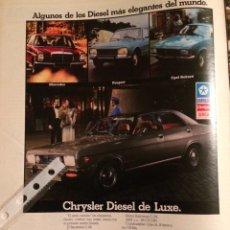Coleccionismo Papel Varios: PUBLICIDAD AUTOMÓVIL CHRYSLER DE 1975. Lote 98715032