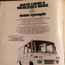 Coleccionismo Papel Varios: PUBLICIDAD FURGONETA MERCEDES BENZ DE 1974. Lote 98718071