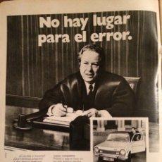 Coleccionismo Papel Varios: PUBLICIDAD AUTOMÓVIL SIMCA 1200 DE 1974. Lote 98718194