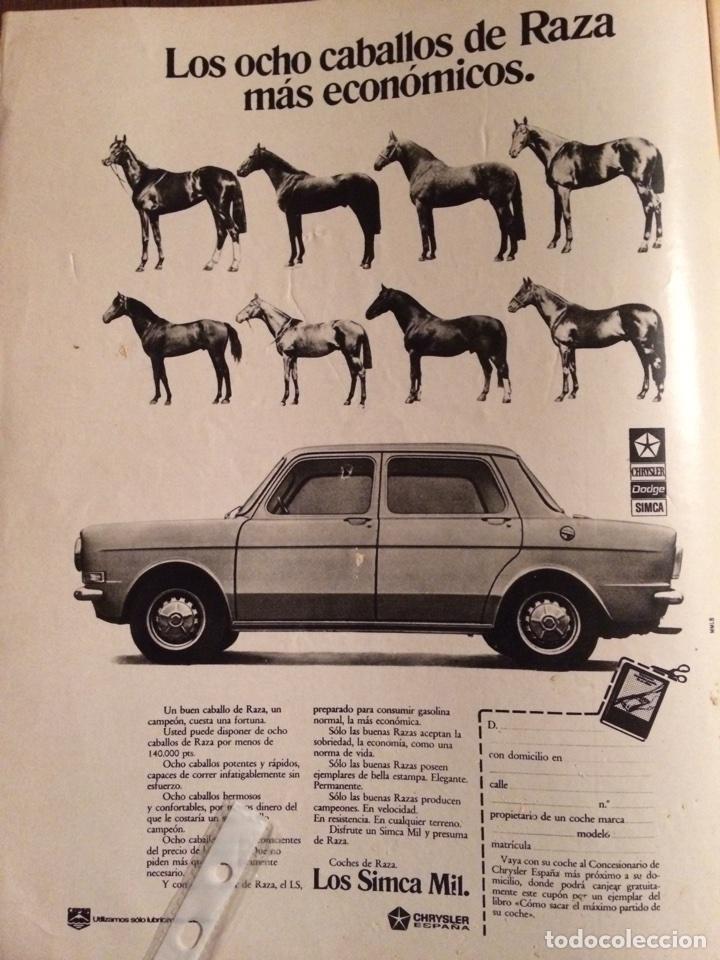 PUBLICIDAD AUTOMÓVIL SIMCA 1000 DE 1976 (Coleccionismo en Papel - Varios)
