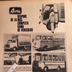 Coleccionismo Papel Varios: PUBLICIDAD CAMIÓN AVIA DE 1974. Lote 98722748