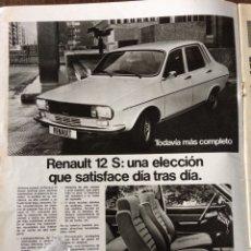 Coleccionismo Papel Varios: PUBLICIDAD AUTOMÓVIL RENAULT 12 DE 1975. Lote 98793976