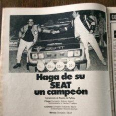 Coleccionismo Papel Varios: PUBLICIDAD AUTOMÓVIL SEAT 1430 Y ACEITE CS DE 1975. Lote 98794362