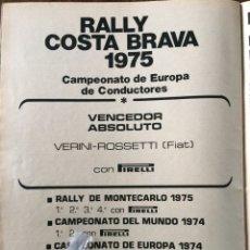 Coleccionismo Papel Varios: PUBLICIDAD NEUMÁTICOS PIRELLI DE 1975. Lote 98794542