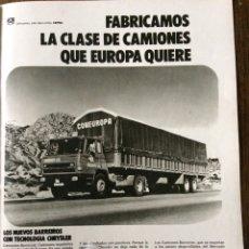Coleccionismo Papel Varios: PUBLICIDAD CAMIÓN BARREIROS CHRYSLER DE 1975. Lote 98794699