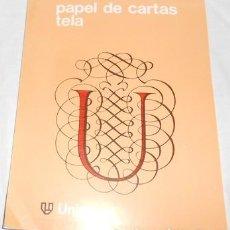 Coleccionismo Papel Varios: BLOCK DE PAPEL DE CARTAS DE TELA. Lote 98795707