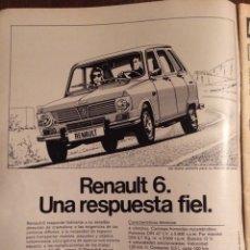 Coleccionismo Papel Varios: PUBLICIDAD AUTOMÓVIL RENAULT 8 DE 1974. Lote 98800899