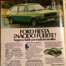 Coleccionismo Papel Varios: PUBLICIDAD AUTOMÓVIL FORD FIESTA DE 1976. Lote 98801128