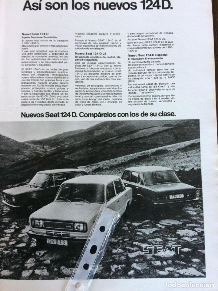 PUBLICIDAD AUTOMÓVIL SEAT 124 DE 1975 (Coleccionismo en Papel - Varios)