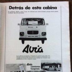 Coleccionismo Papel Varios: PUBLICIDAD CAMIÓN AVIA DE 1977. Lote 98877851
