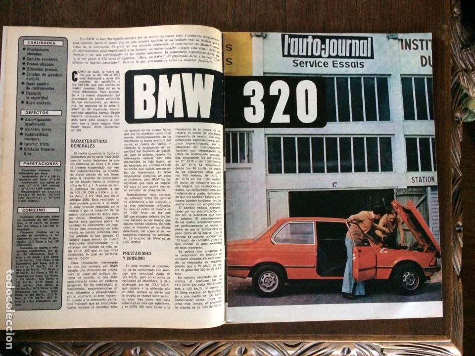 REPORTAJE AUTOMÓVIL BMW 320 DE 1975 (Coleccionismo en Papel - Varios)