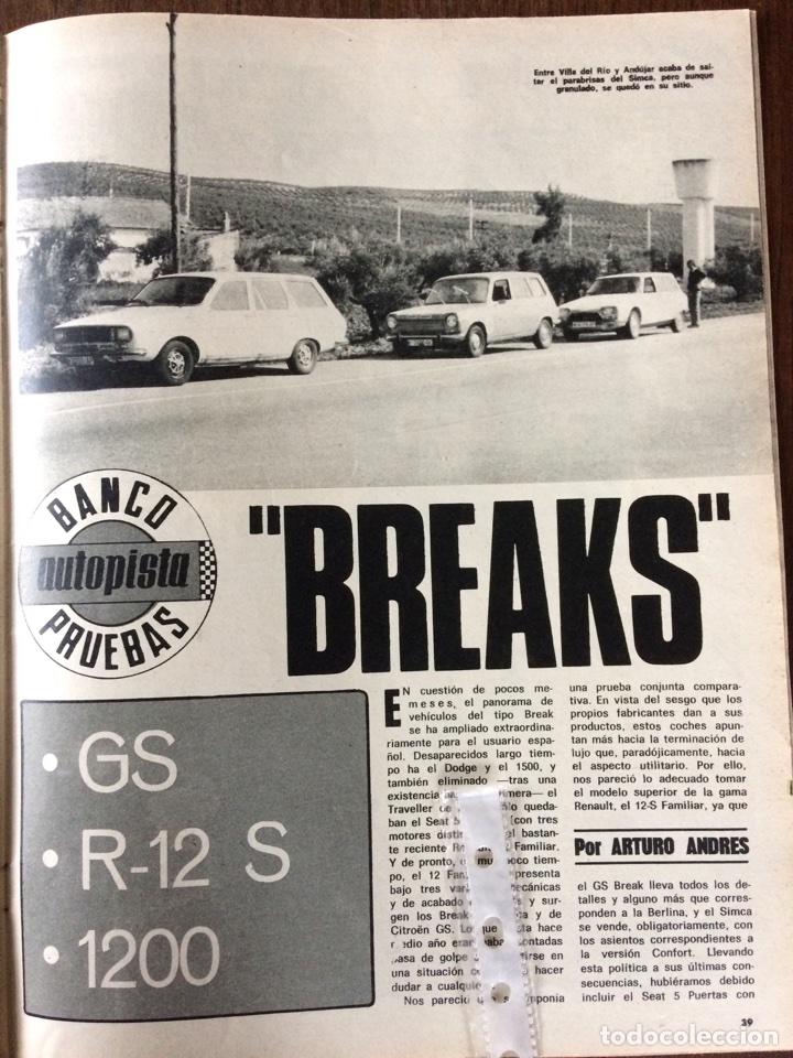 REPORTAJE AUTOMÓVIL RENAULT 12 SIMCA 1200 CITROEN GS DE 1975 (Coleccionismo en Papel - Varios)