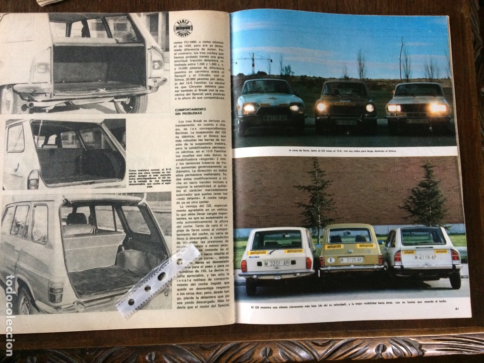 Coleccionismo Papel Varios: Reportaje automóvil Renault 12 simca 1200 citroen GS de 1975 - Foto 2 - 99277019