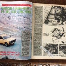 Coleccionismo Papel Varios: REPORTAJE AUTOMÓVIL SEAT 1200 SPORT DE 1977. Lote 99278296
