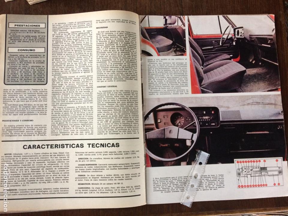 Coleccionismo Papel Varios: Reportaje automóvil Vw Volkswagen golf L diésel de 1977 - Foto 2 - 99278414
