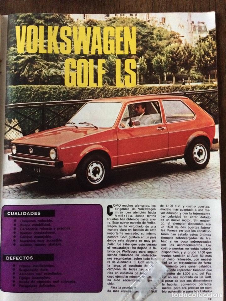 REPORTAJE AUTOMÓVIL VW VOLKSWAGEN GOLF LS DE 1974 (Coleccionismo en Papel - Varios)