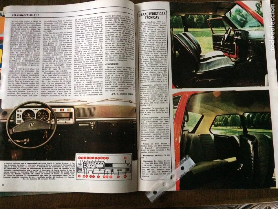 Coleccionismo Papel Varios: Reportaje automóvil Vw Volkswagen golf LS de 1974 - Foto 2 - 99302399