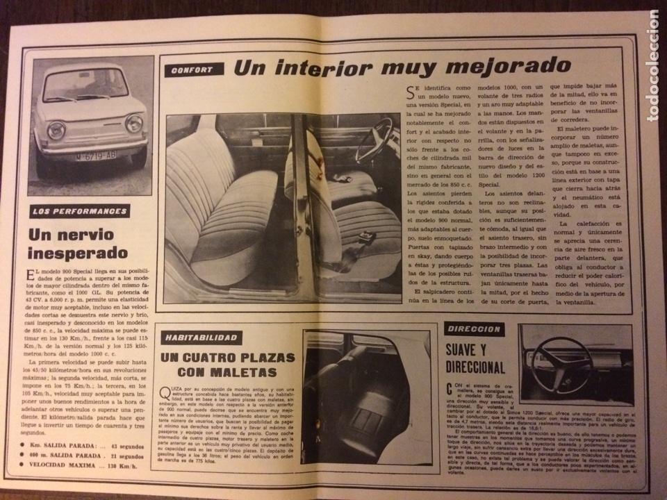 Coleccionismo Papel Varios: Reportaje automóvil simca 900 de 1975 - Foto 2 - 99305112