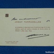 Coleccionismo Papel Varios: (AUT) AUTOGRAFO ORIGINAL DE JOSEP TARRADELLLAS , 17 X 11'5 CM, BUEN ESTADO. Lote 99660095