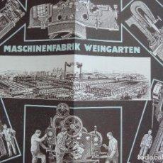 Coleccionismo Papel Varios: MASCHINENFABRIK WEINGARTEN. CASA CENTRAL EIBAR. Lote 99729387