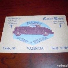 Coleccionismo Papel Varios: TARJETA TALLERES PLUS ULTRA VALENCIA AÑOS CUARENTA . Lote 99923799