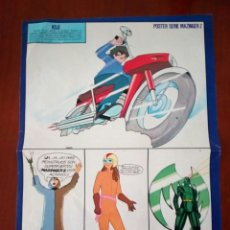 Coleccionismo Papel Varios: MAZINGER Z POSTER REVISTA SUPER POP MEDIDAS 38 POR 26. Lote 100374140
