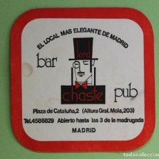 Collectionnisme Papier divers: ANTIGUO POSAVASOS BAR PUB LORD CHASTE. Lote 100749555