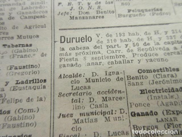 Coleccionismo Papel Varios: SEGOVIA 1947 - CEREZO ARRIBA CONDADO CASTILNOVO DURATON DURUELO ENCINAS FRENOS FUENTE GAL- LEER INT. - Foto 2 - 101450183