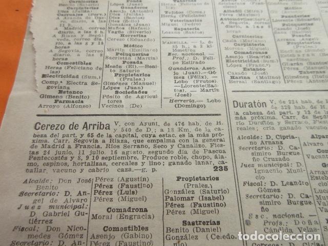 Coleccionismo Papel Varios: SEGOVIA 1947 - CEREZO ARRIBA CONDADO CASTILNOVO DURATON DURUELO ENCINAS FRENOS FUENTE GAL- LEER INT. - Foto 4 - 101450183